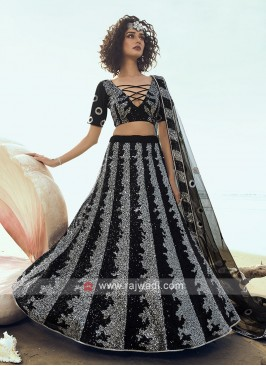 Stylish Sequins Work Lehenga Choli