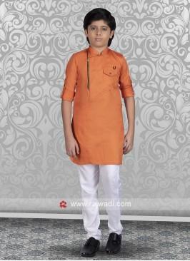 Orange Color Kurta Set