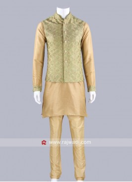 Stylish Silk Fabric Koti Set