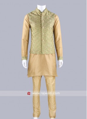 Stylish Silk Fabric Koti Set