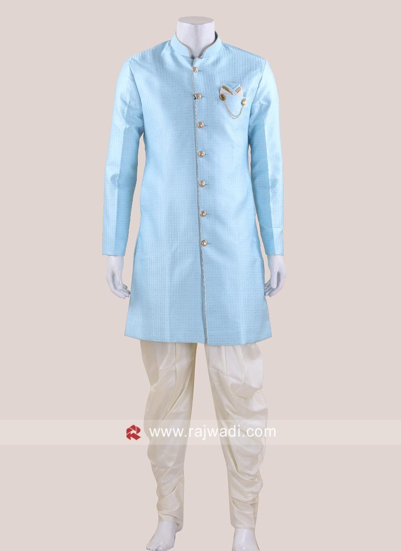 Stylish Sky Blue Indo Western