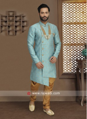 Stylish Sky Blue Indo Western For Men