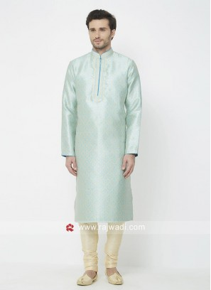 Stylish Sky Blue Kurta Pajama