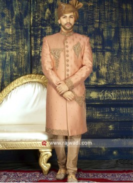 Stylish Stone Work Sherwani