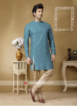 Stylish Teal color Kurta Set