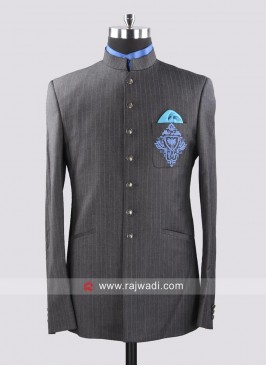 Stylish Terry Cotton Jodhpuri Suit