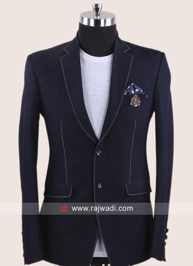 Stylish Terry Rayon Fabric Blazer
