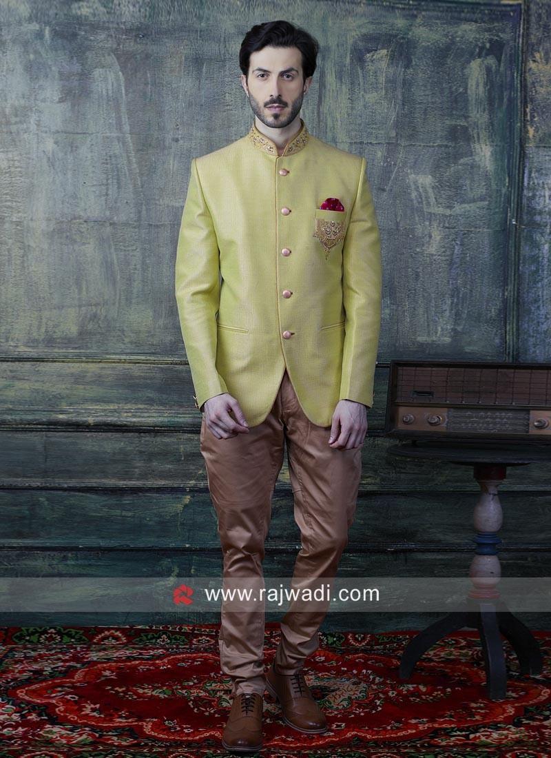 Stylish Art Silk Fabric Jodhpuri