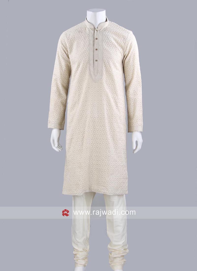 Stylish Thread Work Kurta Pajama