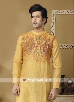 Stylish  Mustard Yellow Color Kurta