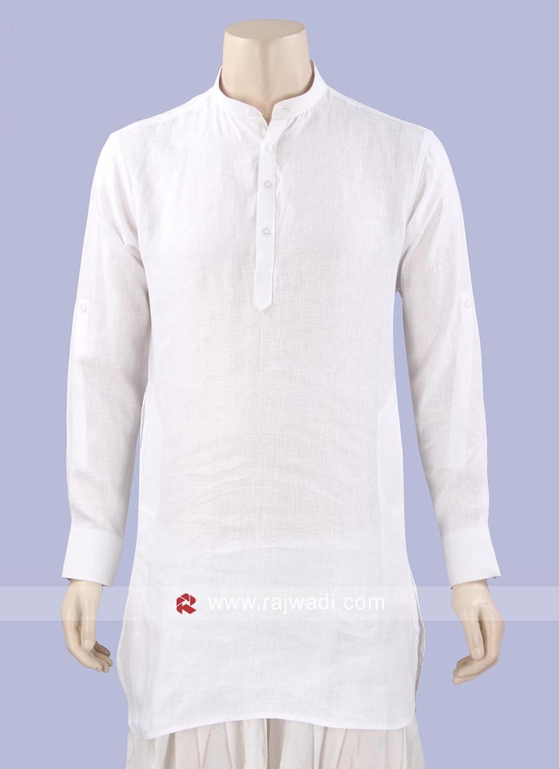 Stylish White Color Kurta