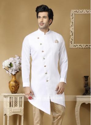 Stylish White Color Kurta For Wedding