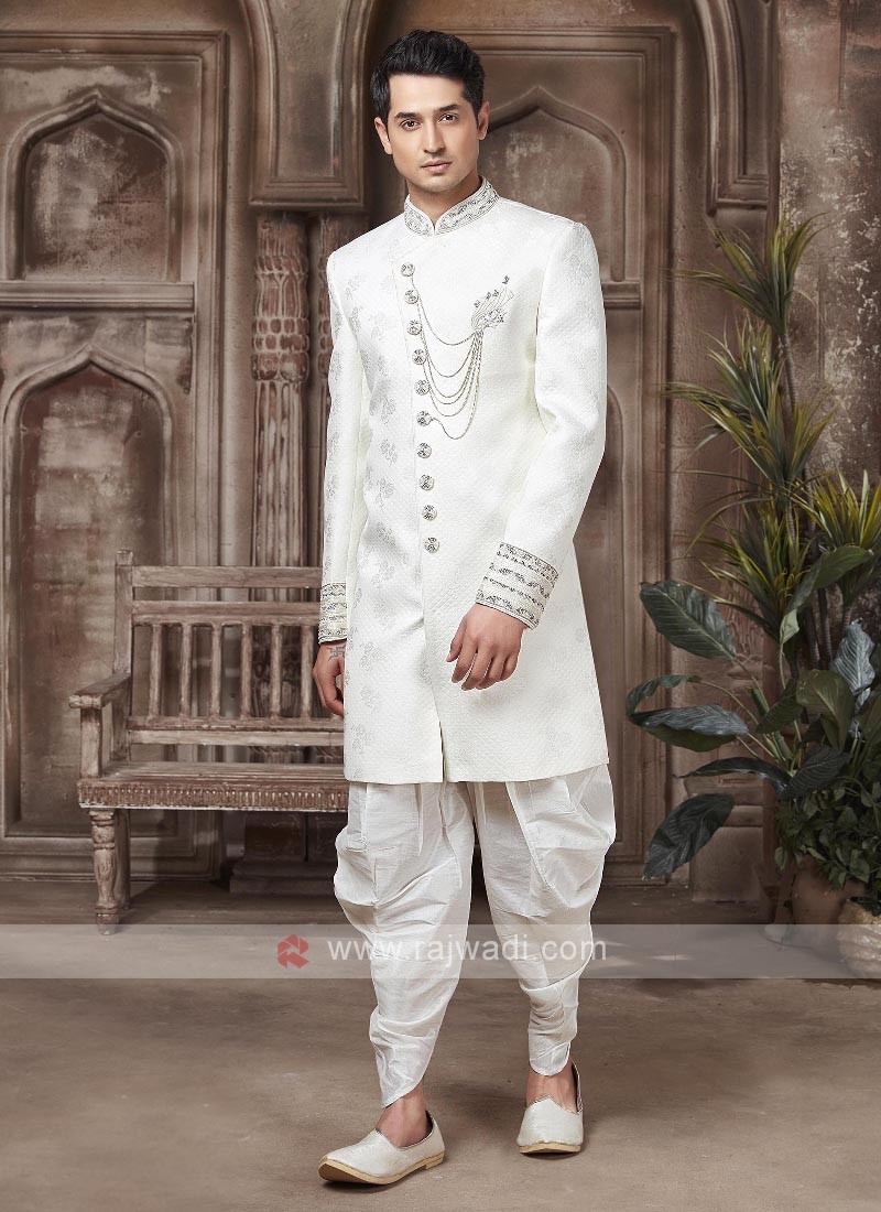 Stylish White colour Indo-western