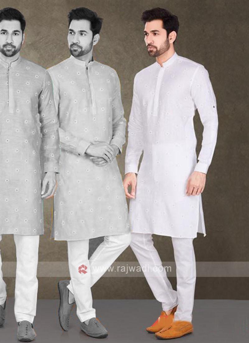 Stylish White Kurta Pajama For Men