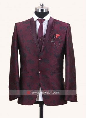 Stylish Wine Color Suit For Wedding