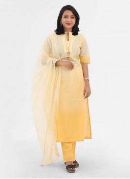 Stylish Women's Lemon Yellow Pant Suits