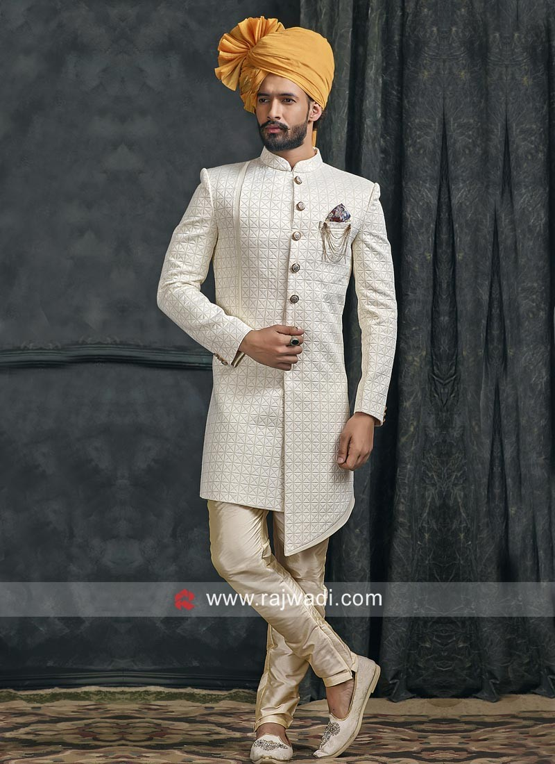Elegant Off White Indo Western Outfit