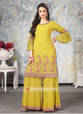 Stylish Yellow Gharara Suit