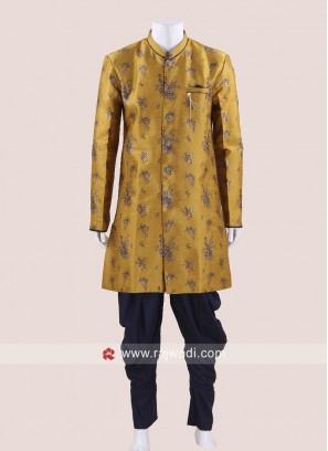 Stylish Yellow Indo Western