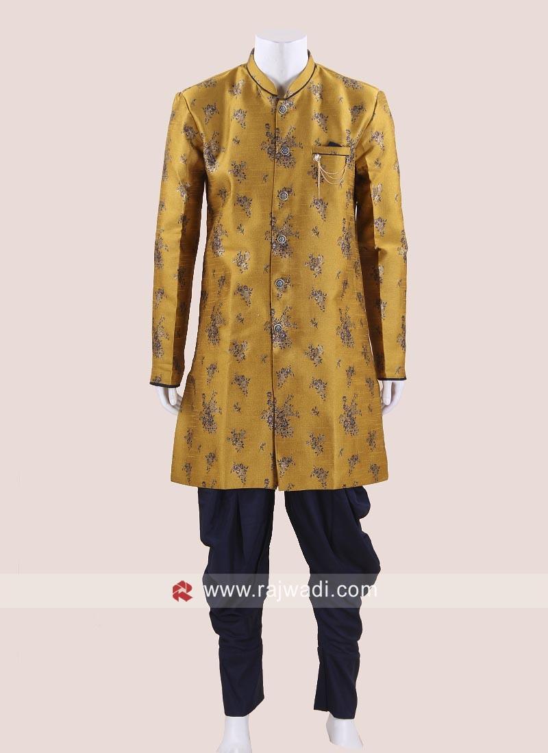 Stylish Golden Yellow Indo Western