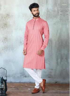 Stylist Pink Color Kurta Set