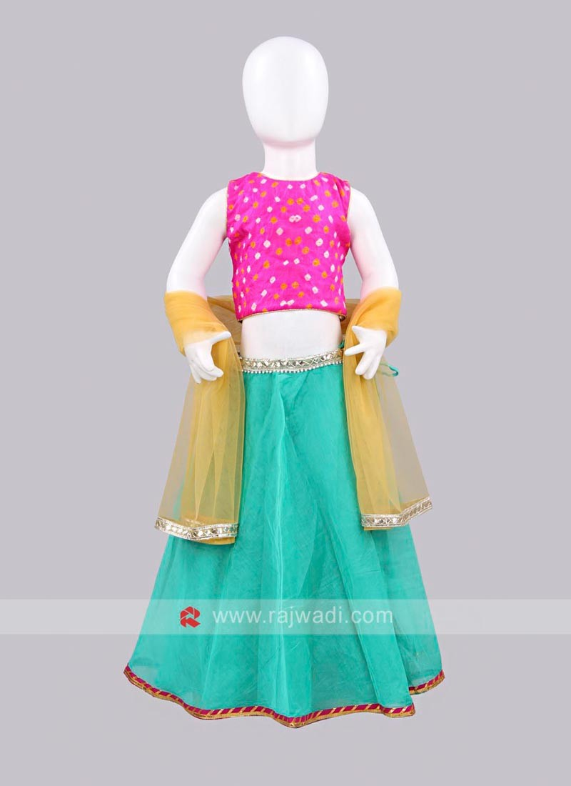 Sugar Candy Bandhani Lehenga Choli for Kids