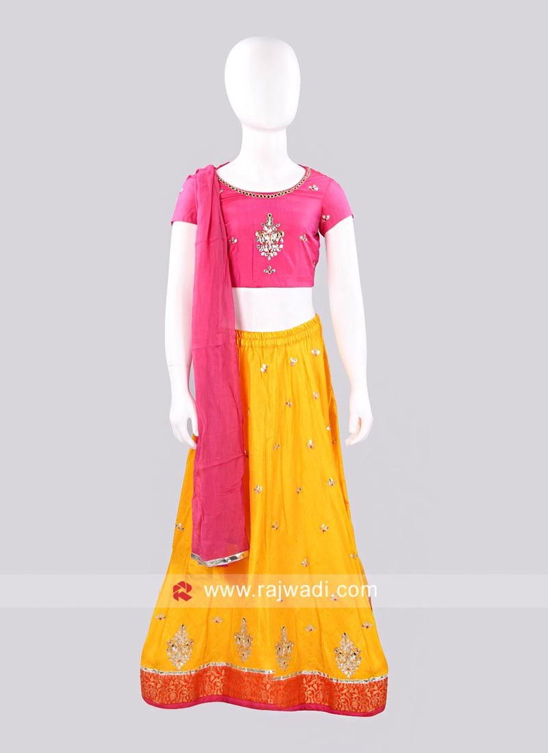 Sugar Candy Embroidered Lehenga Set for Girls