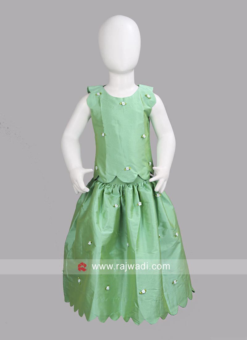 Sugar Candy Flower Work Skirt Top for Girls
