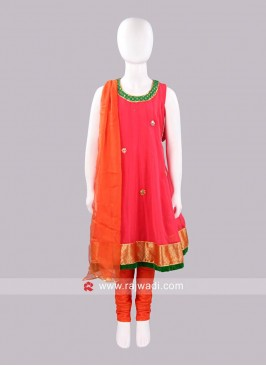Sugar Candy Georgette Sleeveless Anarkali Suit