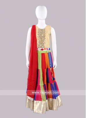 Sugar Candy Girls Multicolor Lehenga Set