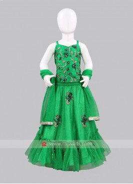 Sugar Candy Green Net Lehenga Choli