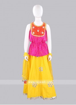 Sugar Candy Kids Bandhani Lehenga Choli