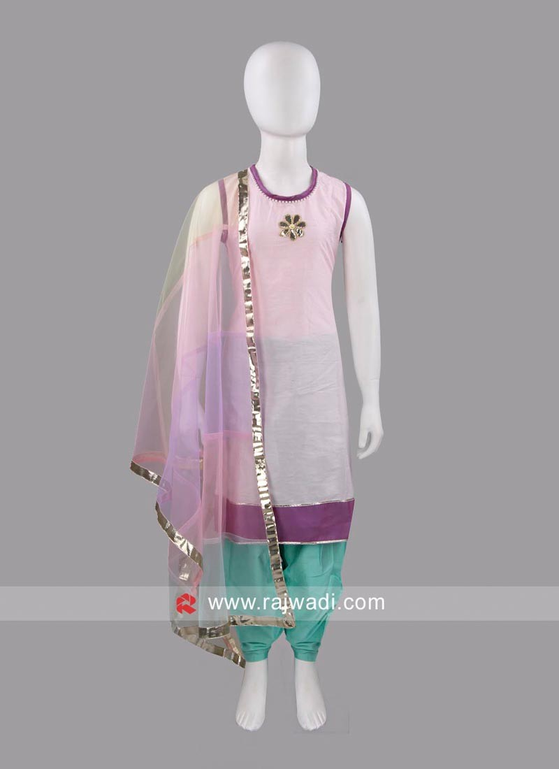 Sugar Candy Kids Cotton Silk Salwar Kameez