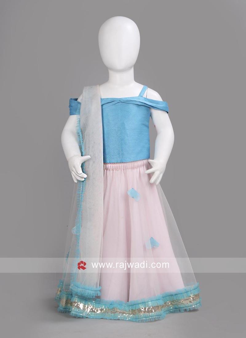 55a608add Sugar Candy Net Designer Kids Lehenga Choli