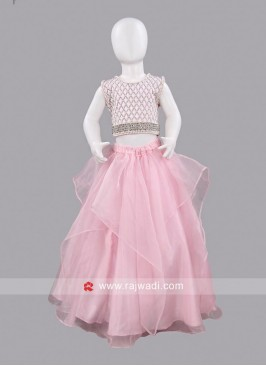 Sugar Candy Pink and White Girls Skirt with Top