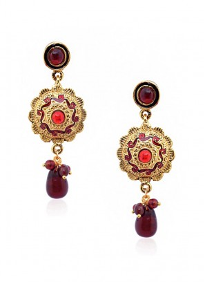 Sunshine Ruby Drop Earrings