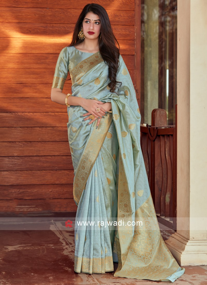 Sunshine Silk Woven Designer Traditional Saree