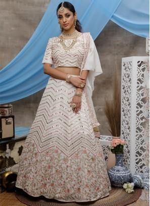 Surpassing Georgette Embroidered Bollywood Lehenga Choli