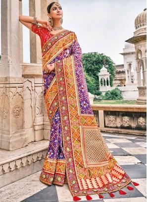 Surpassing Silk Purple Contemporary Saree