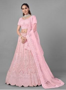 Swanky Dori Work Pink Lehenga Choli