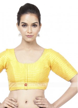 Tafeta Yellow Ready Blouse