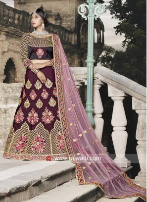 Taffeta Designer Wedding Lehenga