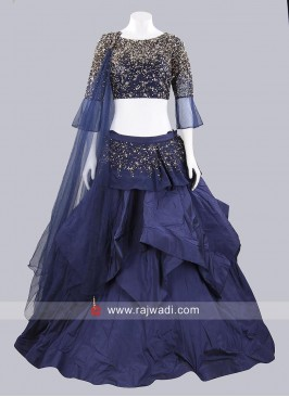 Taffeta Silk and Net Layered Lehenga Set