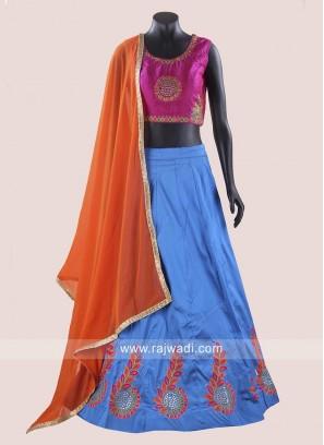 Taffeta Silk Chaniya Choli for Navratri