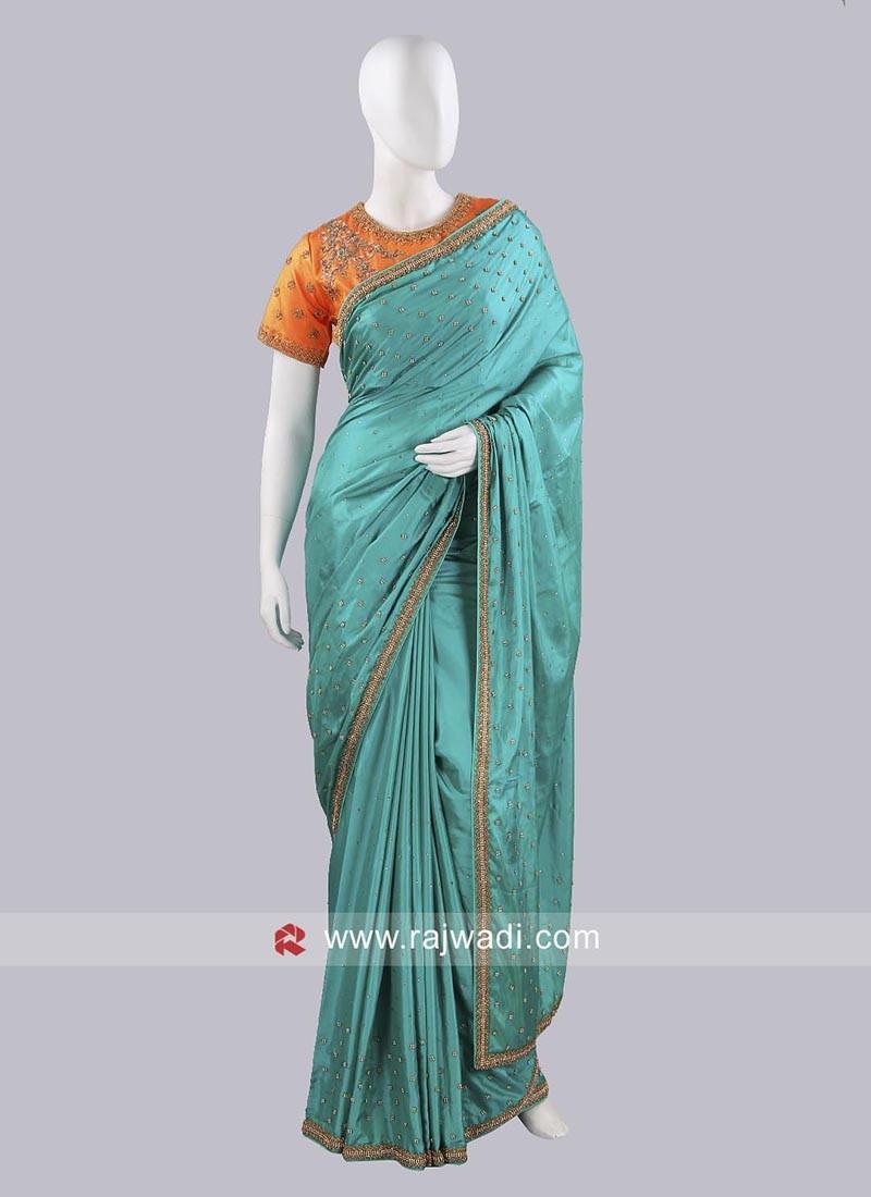 Taffeta Silk Choli Saree
