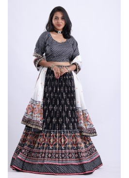 Taffeta Silk Choli Saree