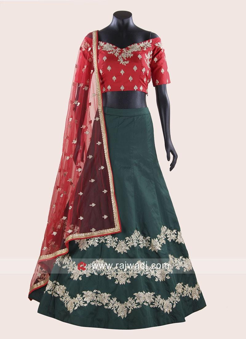 Taffeta Silk Designer Choli Suit