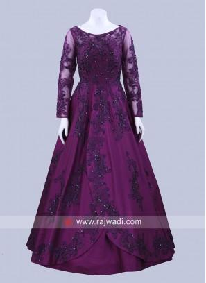 Taffeta Silk Designer Gown