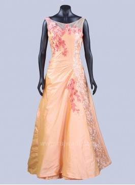 Taffeta Silk Embellished Gown