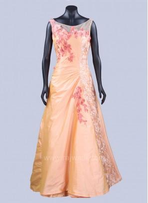 Taffeta Silk Embellished Gown